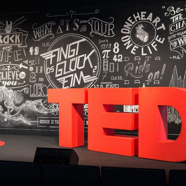 Stage Backdrop TEDx Bern