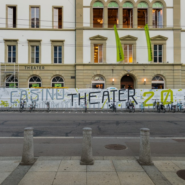 Casinotheater Winterthur Type on Constructionwall
